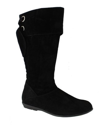 Black Faux Suede Elda-2 Boot