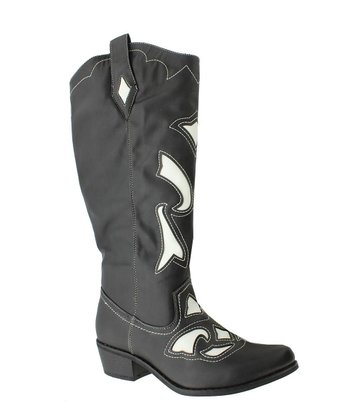Black & White Cowgirl 4 Boot
