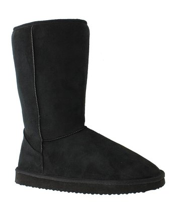 Black Faux Suede Riva 1 Boot