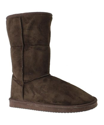 Brown Faux Suede Riva 1 Boot