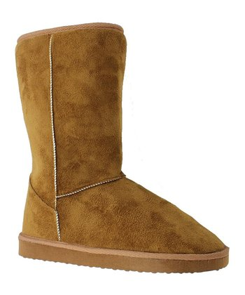 Tan Faux Suede Riva 1 Boot