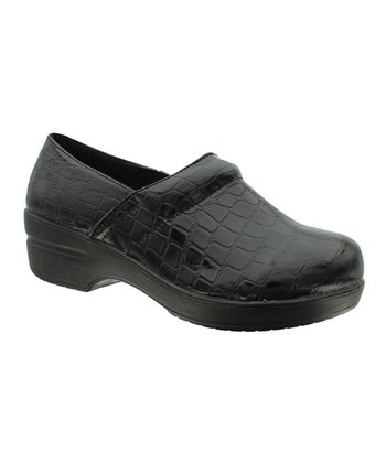 Black Crocodile Rochele Clog