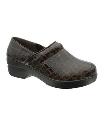 Brown Crocodile Rochele Clog