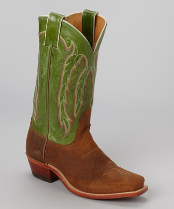 Heritage Brown Cowboy Boot - Kids