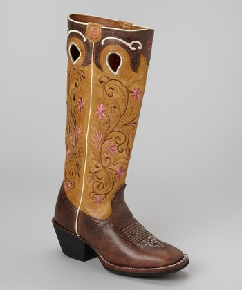 Saddle Brown Travis Cowboy Boot - Women