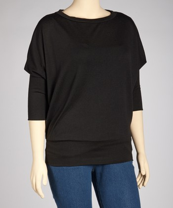 Black Dolman Sweater - Plus