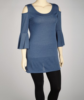 Navy Cutout Tunic - Plus