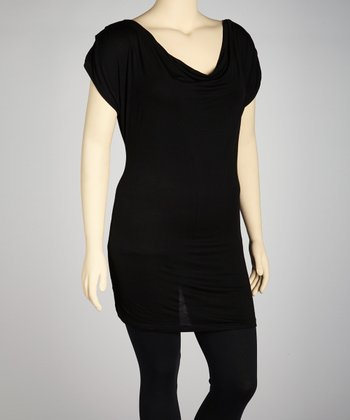 Black Ladderback Dress - Plus