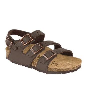 Neoprene Brown Birko-Flor Ellice Sandal - Kids