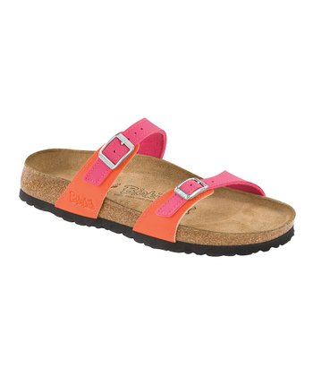 Pink & Orange Birko-Flor Tahiti Slide - Women