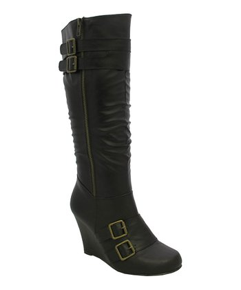 Brown Bonita-95 Wedge Boot
