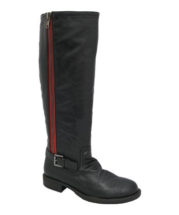 Black Buckle Cheri Boot