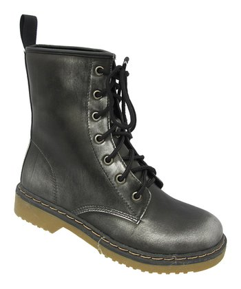 Pewter Topic Combat Boot
