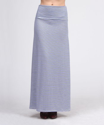 Royal & White Maxi Skirt