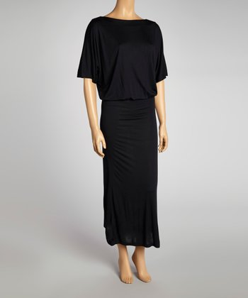 Black Drape Maxi Dress