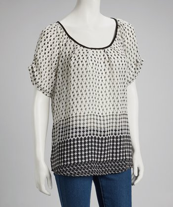 Black & White Houndstooth Top