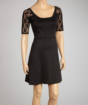 Black Lace-Back Dress