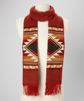 Brick Tribal Scarf