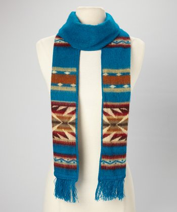 Blue Tribal Scarf