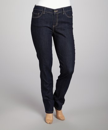 Blue Rinse & Yellow Stitch Skinny Jeans - Plus