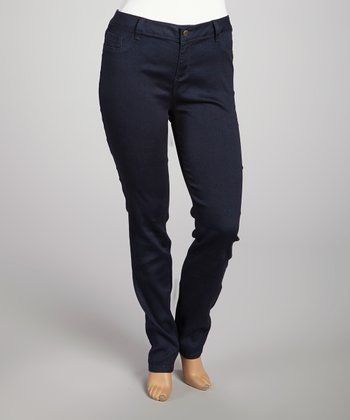 Navy Skinny Pants - Plus