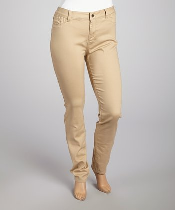 Khaki Skinny Pants - Plus