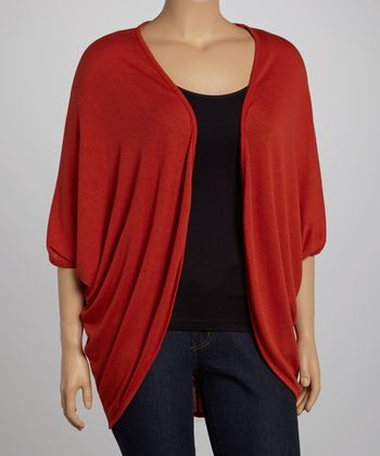 Brick Open Cardigan - Plus
