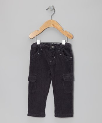 Ombré Blue Corduroy Cargo Pants - Infant