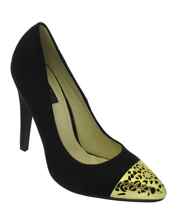 Black & Gold Goldie Pump