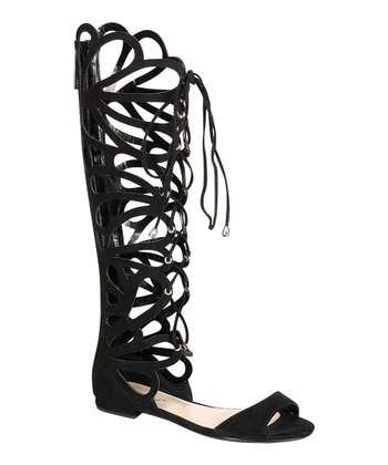 Black Gladiator Sandal Boot