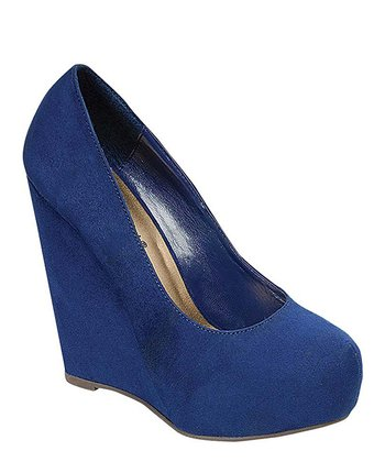 Navy Wedge Pump