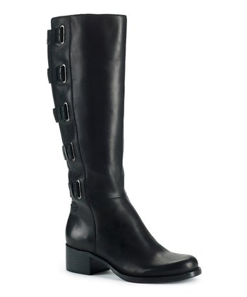 Black Leather Skylar Boot