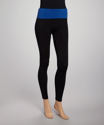 Black & Blue Leggings