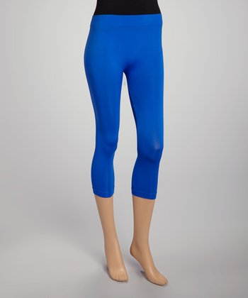 Royal Blue Footless Capri Leggings