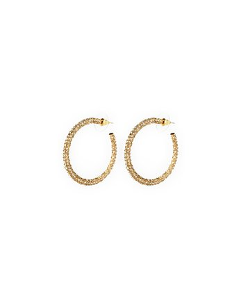 Gold Fergie Hoop Earrings