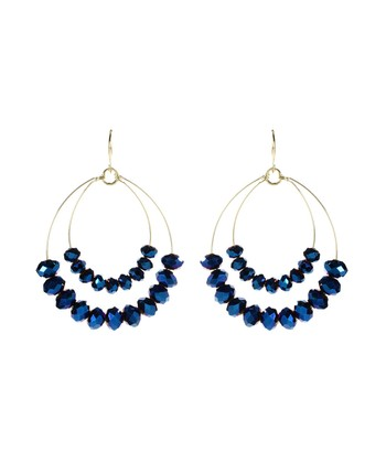 Blue Apiya Chandelier Earrings