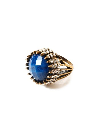 Blue Crystal Riverside Ring