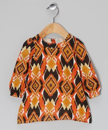 Orange Eclectic Swing Dress - Infant