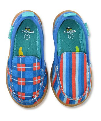 Blue & Orange Sail Scout Loafer - Kids