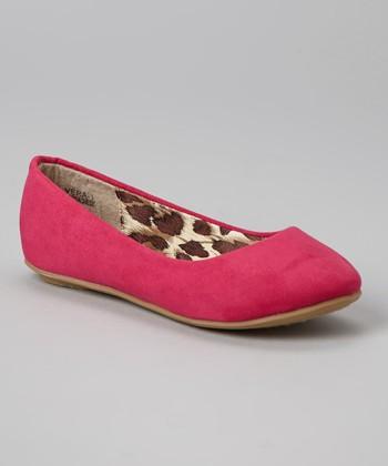 Anna Shoes Fuchsia Vera Flat