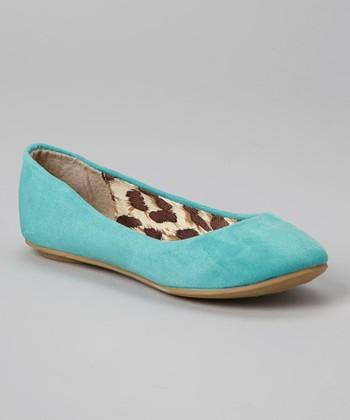 Anna Shoes Mint Green Vera Flat