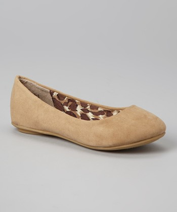 Anna Shoes Tan Vera Flat