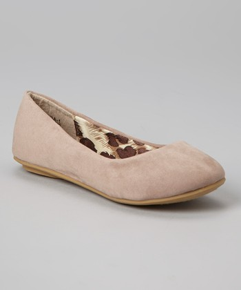 Anna Shoes Taupe Vera Flat
