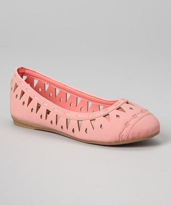 Anna Shoes Blush Cutout Vera Flat