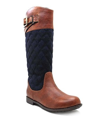 Brown & Navy Andrea Riding Boot
