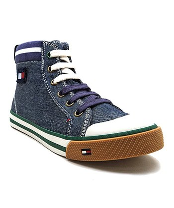 Blue & Purple Dennis Collar Hi-Top Shoe