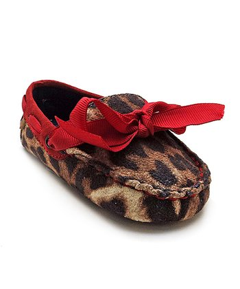 Brown & Tan Leopard Mini Moccasin