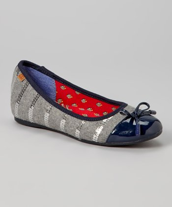 Navy & Gray Alyssa Flat