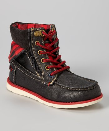 Black & Red Aiden Ankle Boot
