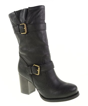 Black Double Buckle Boot